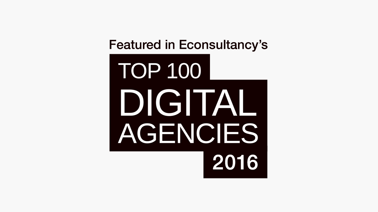 Isobar UK Ranked Top 20 in Econsultancy's Top 100 Digital Agencies 2016