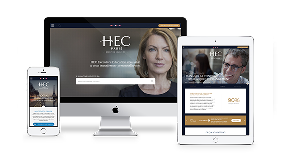 The new website of HEC Paris Executive Education designed by Isobar