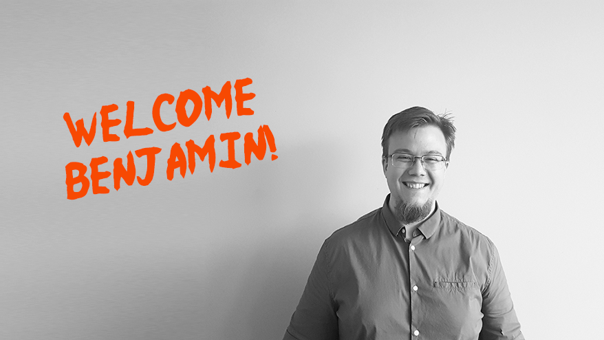 Welcome Benjamin, our new Web Developer!