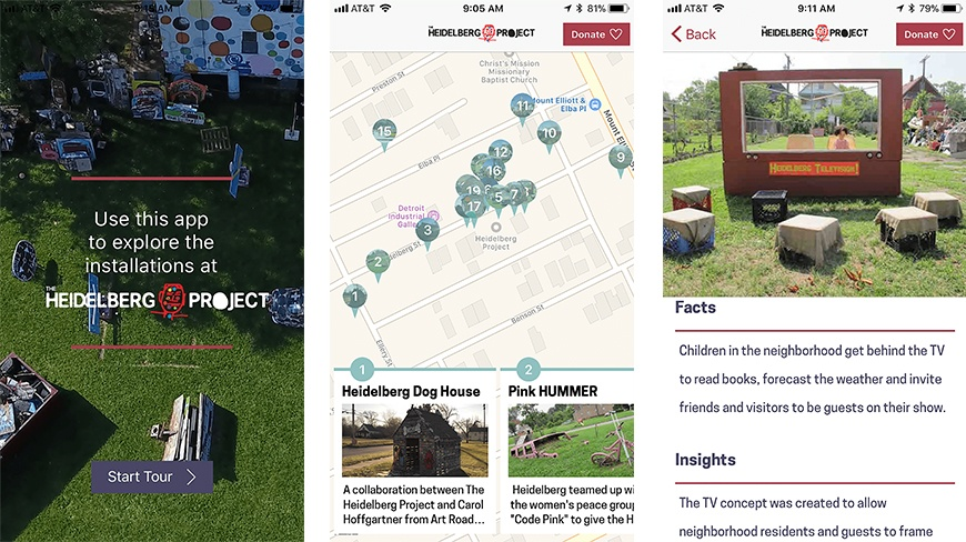 Iconic Detroit Outdoor Art Environment, The Heidlberg Project, Launches App