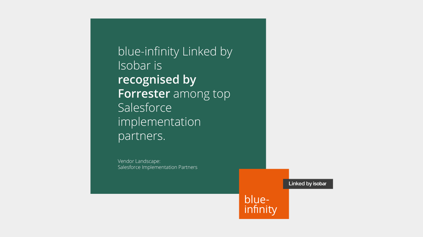 blue-infinity Linked by Isobar named in top Salesforce implementation partner list