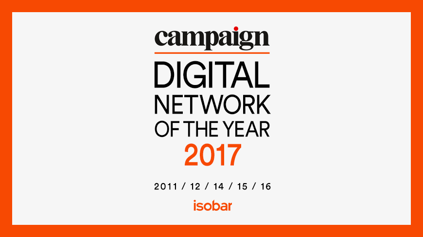 Isobar Maintains Stronghold as Campaign Asia's Digital Network of the Year