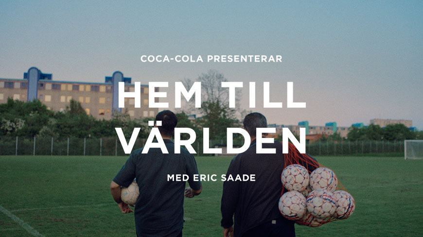 Coca-Cola and artist Eric Saade visits supporters of Euro2016 teams, in Sweden!