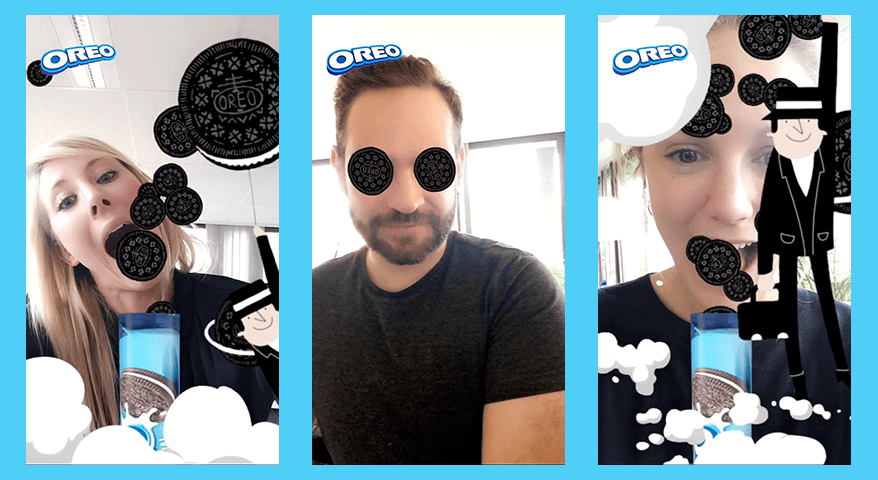 Oreo and Isobar launched the first Snapchat lens in Belgium