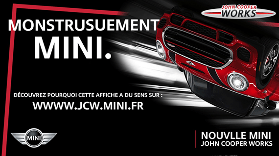 The 1st campaign pursued for the launch of the new MINI John Cooper Works