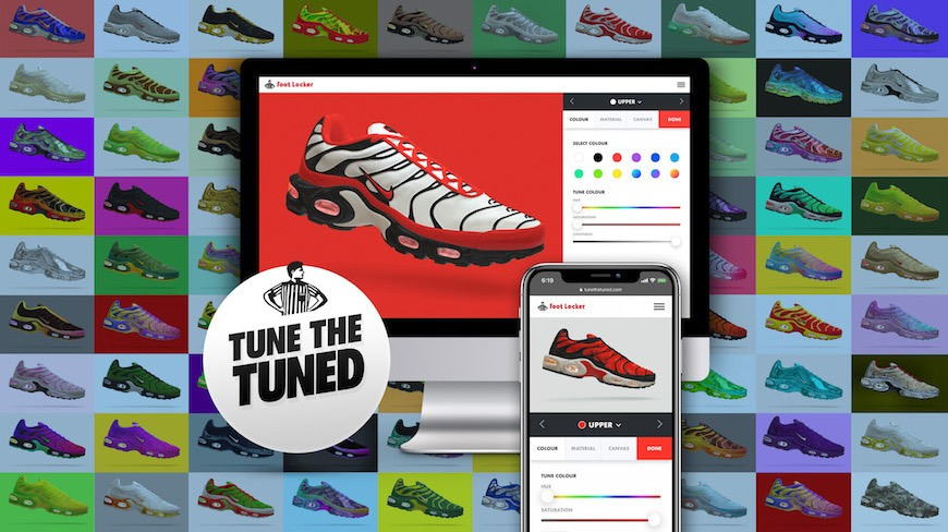 Isobar and Foot Locker let sneakerheads design their own Nike Tuned Air Max Plus – with 20k entries before campaign end