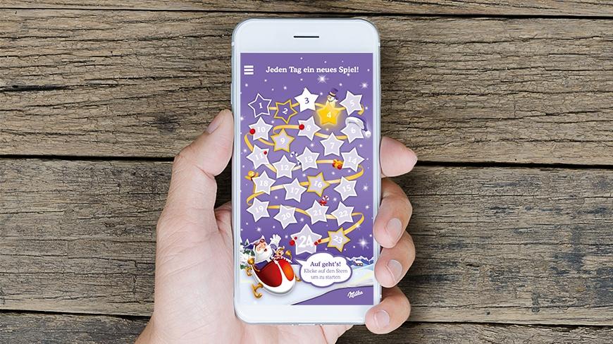 Milka Weihnachtskalender.Isobar And Milka Present An Advent Game App