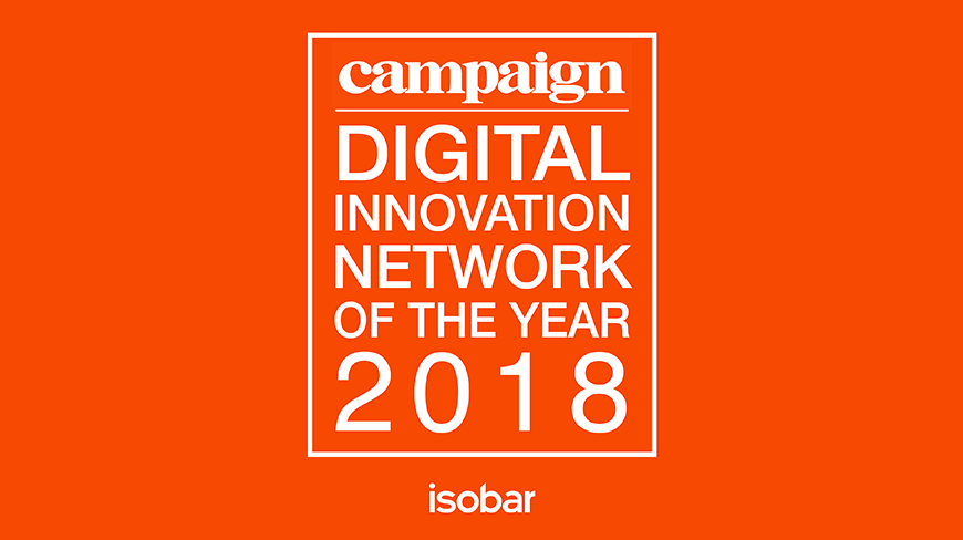 Isobar wins Campaign EMEA Digital Innovation Network of the Year