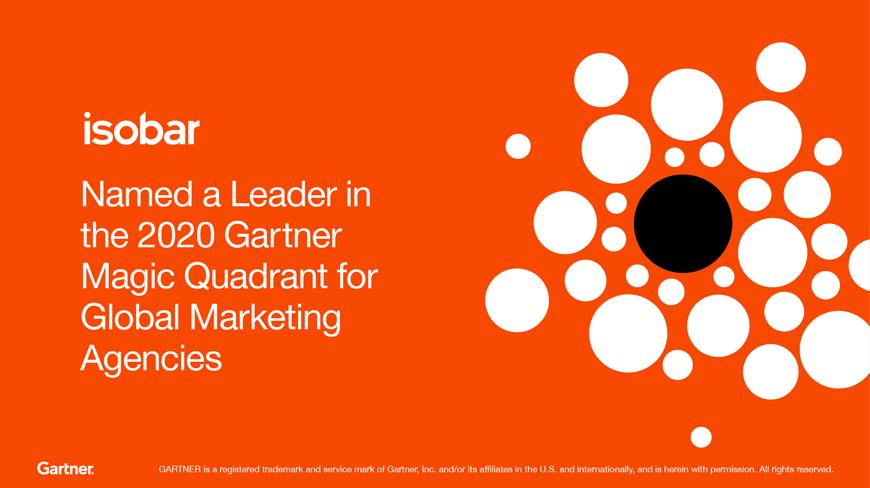 Isobar named a Leader in Gartner 2020 Magic Quadrant for Global Marketing Agencies